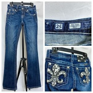 Miss Me Buckle Mid Rise Bootcut Jeans 27x33